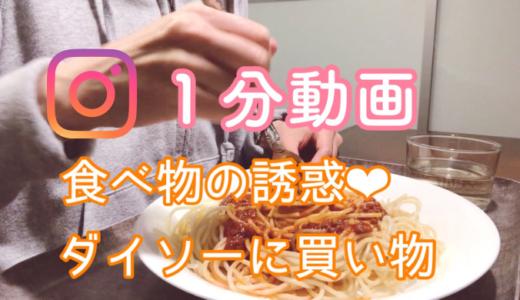 【動画】食べ物の誘惑、ダイソーに買い物 『インスタ』