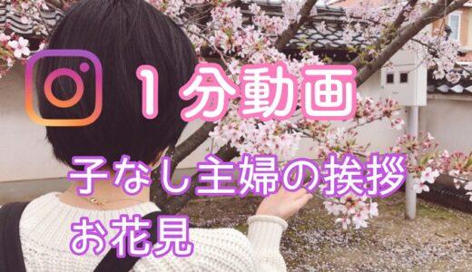【動画】子なし主婦の挨拶、お花見とコンビニご飯 『インスタ』